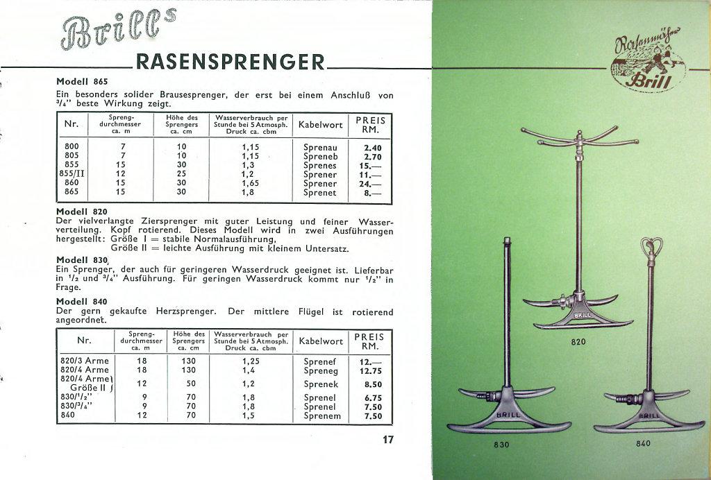Katalog um 1938