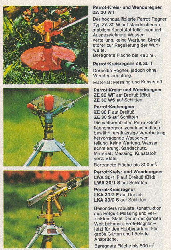 PERROT Gartenkatalog 1978