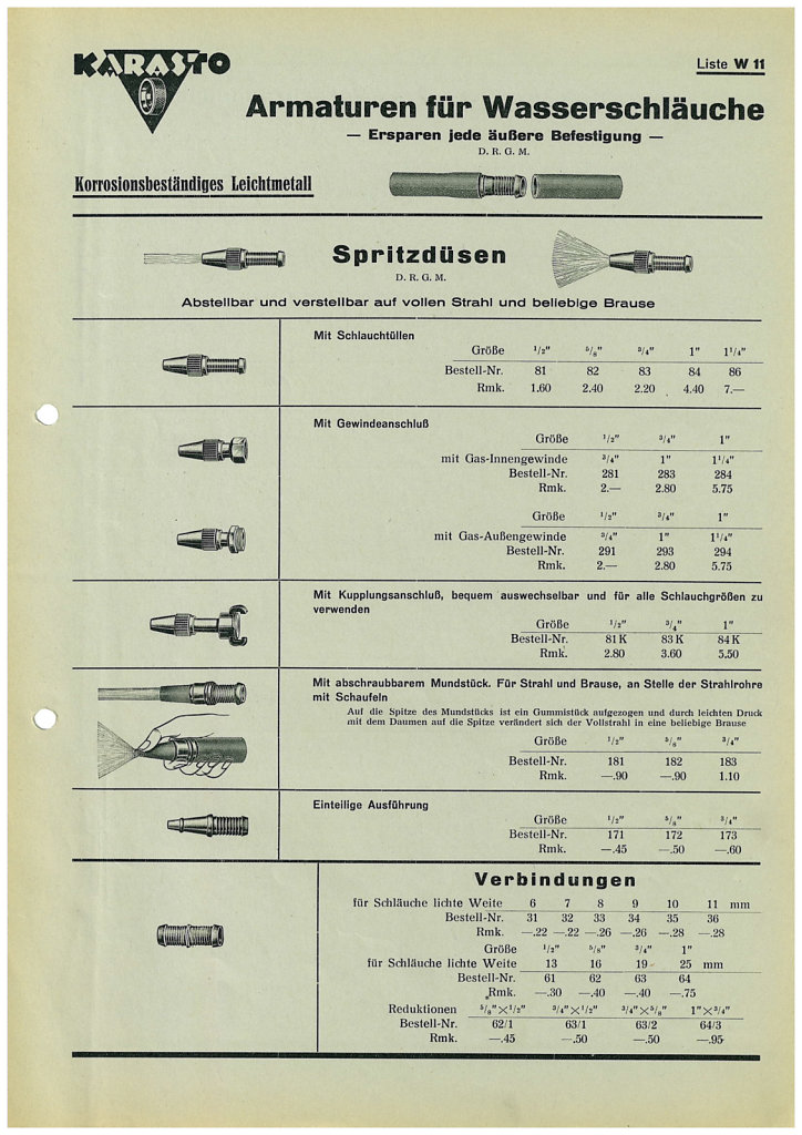 KARASTO Katalog 1939