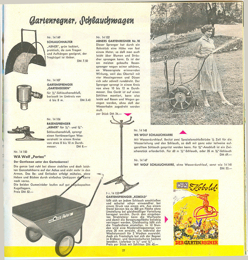 Dehner Katalog 1960