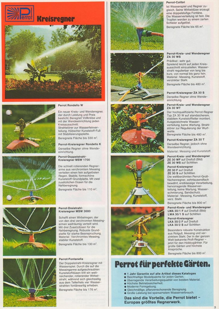 Perrot Garten Katalog 1977