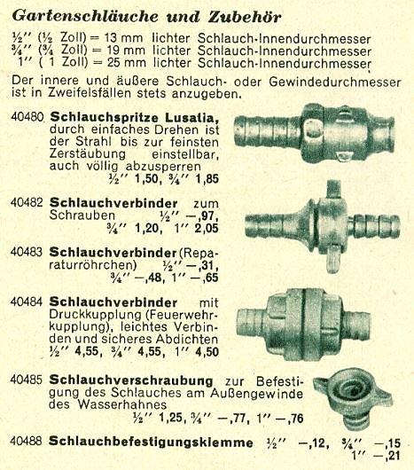 Der Erfurter DSG Katalog von 1960