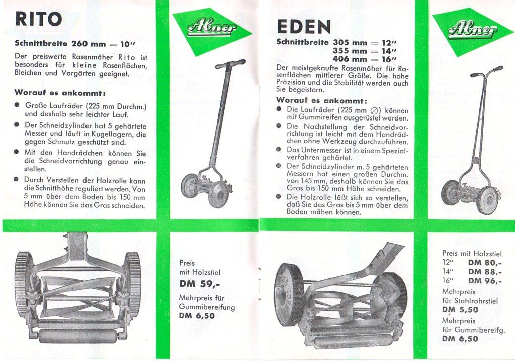 EDEN ABNER Katalog 1959