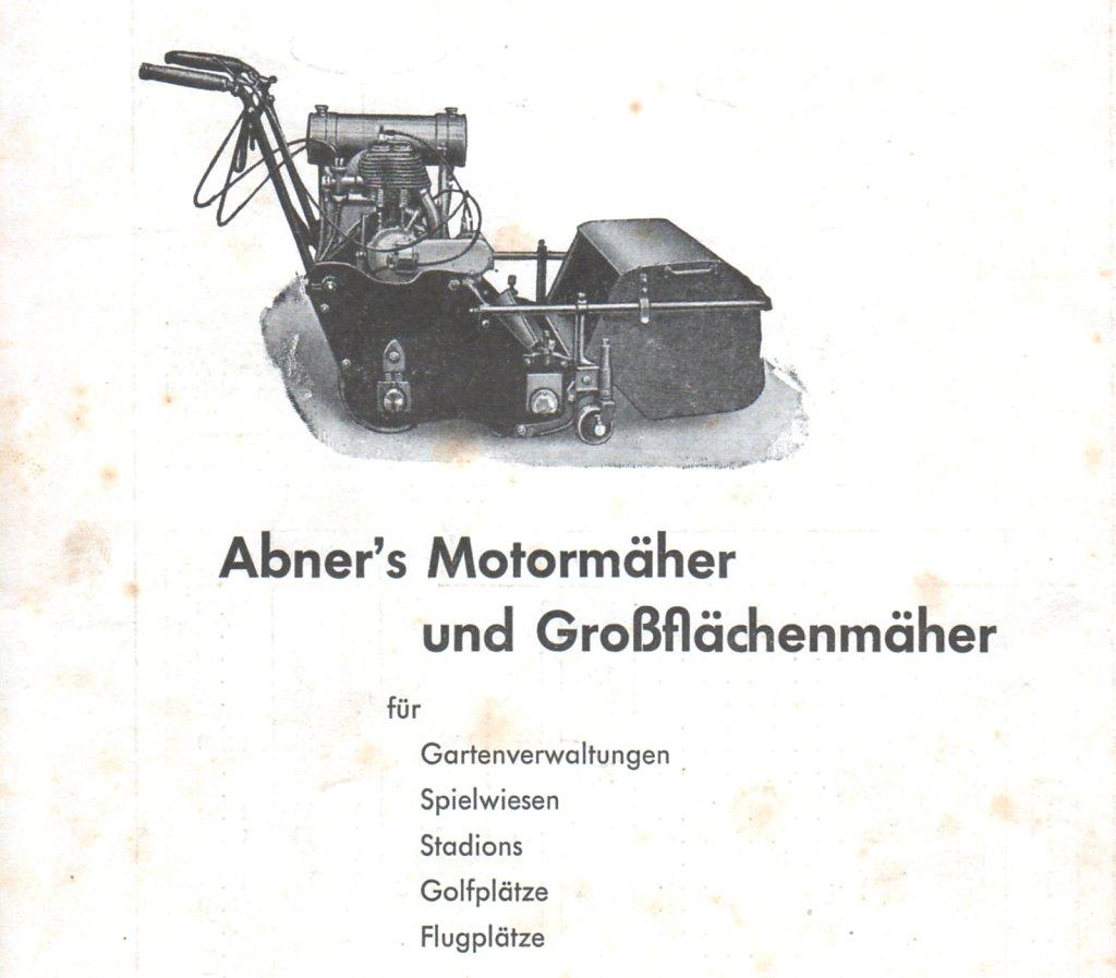 ABNER Motormäher 1938