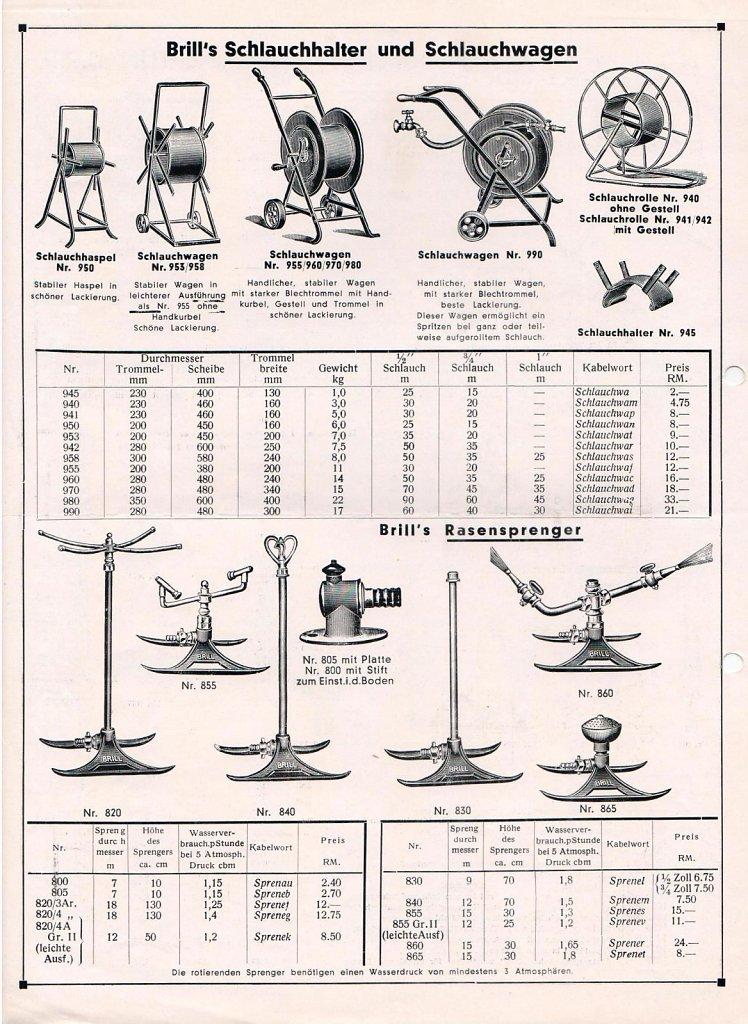 BRILL Katalog 1936
